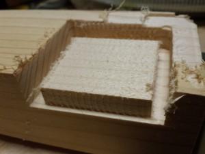 Musterblock von der Fräse gefertigt