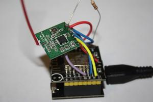 CC1101 und ESP 12F Versuchsaufbau.